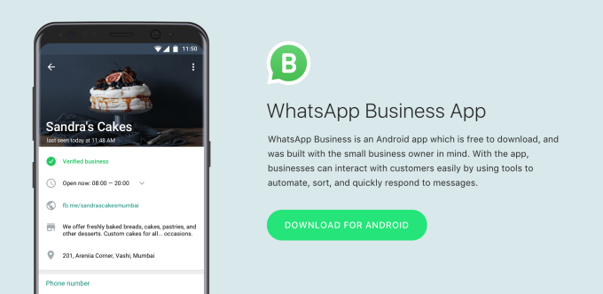 WhatsApp launches its app particularly for small business in select market