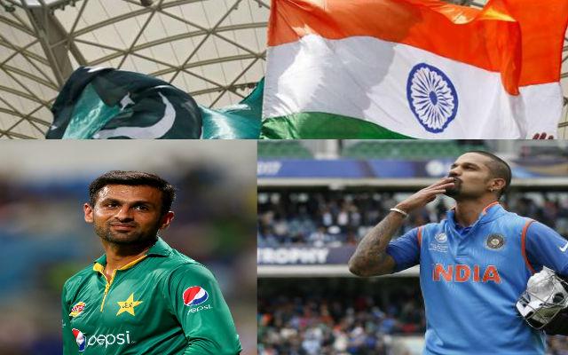 Shikhar Dhawan's gesture towards Shoaib Malik impressed Pakistani fans