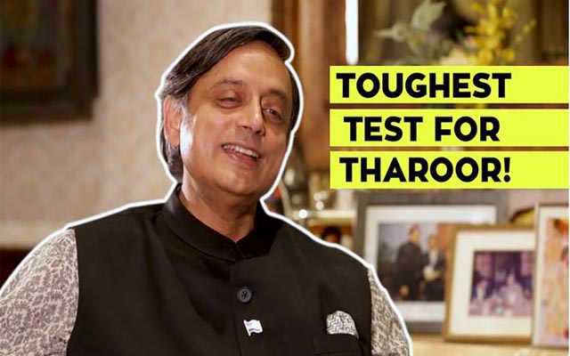 Watch: This is what happens when Shashi Tharoor takes Hindi language test