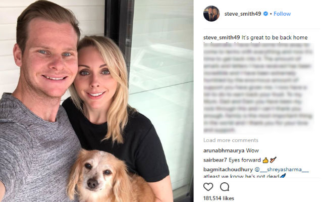 Steve Smith Posts Emotional Message, Affirms To 'Earn Back Trust'
