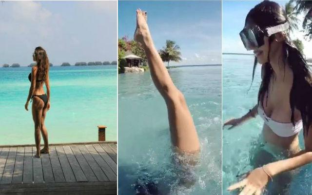 Disha Patani Doing Mind-Blowing Headstand Underwater, Watch Video!!