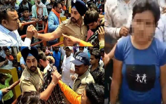 WATCH: Sikh Cop Shields Muslim Man from Mob Attack in Uttarakhand