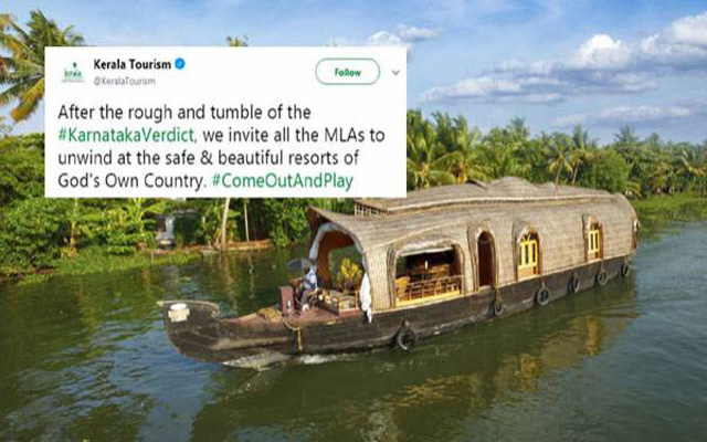 After the fractured mandate in Karnataka, Kerala tourism offers 'safe and beautiful' resorts to MLAs