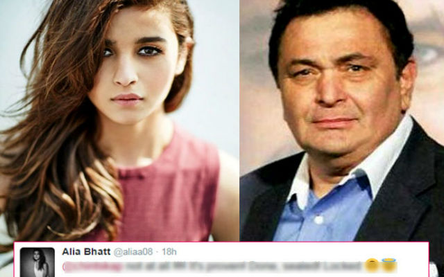 Alia wants to work with Rishi Kapoor again