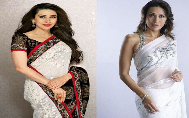 Karisma Kapoor's Summer Fashion In White Saree Is Just Ethereal