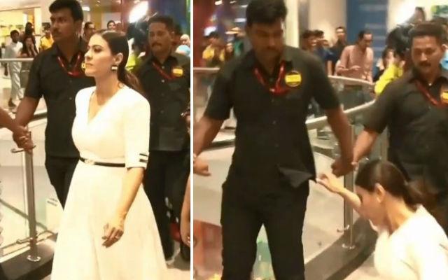 Kajol Slipping Down at Mumbai Shopping Mall & Video Goes Viral