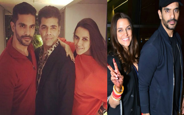 Karan Johar & Dia Mirza Attends Angad Bedi & Neha Dhupia's Dinner Party