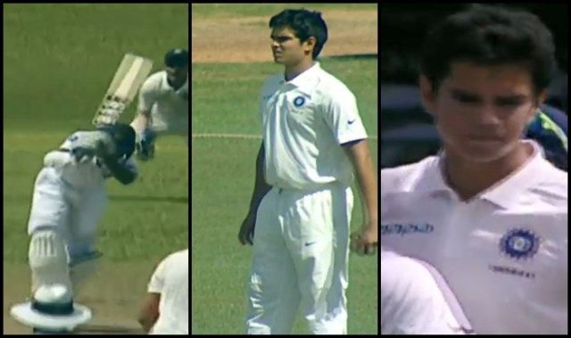 Ind Vs SL U19: Arjun Tendulkar Claims Maiden International Wicket