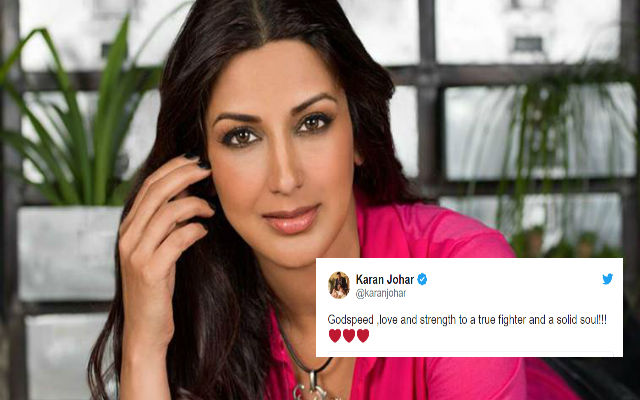 For Sonali Bendre, Karan Johar & Many Celebs Tweet Prayers After Cancer Diagnosis
