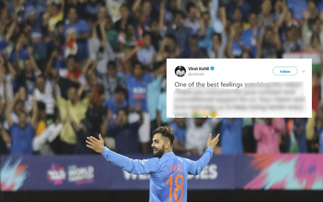 Virat Kohli's Tribute To Fans: Your Love Motivates Us To Keep Trying Harder Every Time