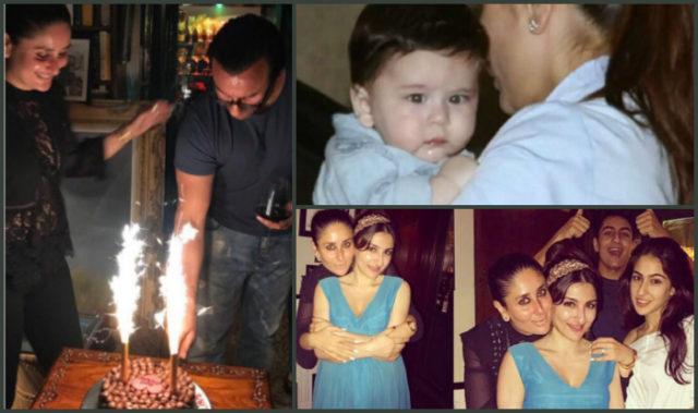 Saif Ali Khan's Birthday: Kareena Kapoor drowns him in kisses, See Pictures