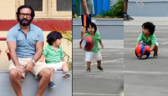 Taimur Ali Khan Playing Football With Pop Saif Ali Khan Will Make Your Day Better!!