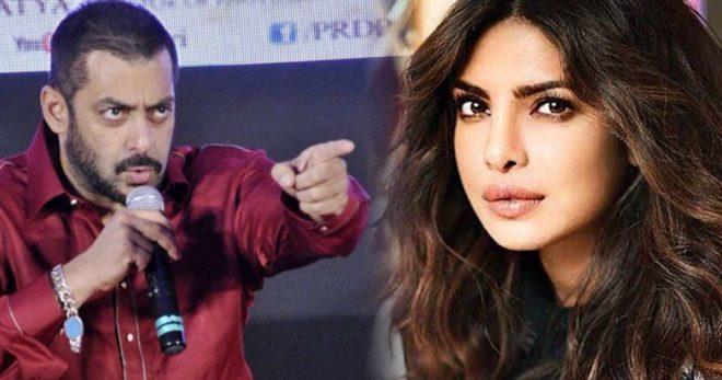 Salman Khan Fires Back At Priyanka Chopra By Expressing His Disappointment