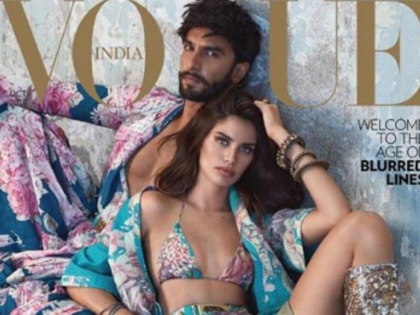 Ranveer Singh Poses With Stunning Portuguese Model And Victoria's Secret Angel