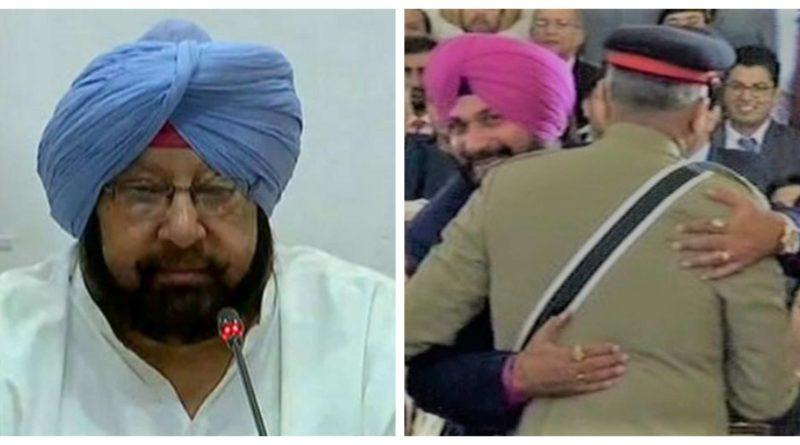 Captain Amrinder Singh and Navjot Singh Sidhu