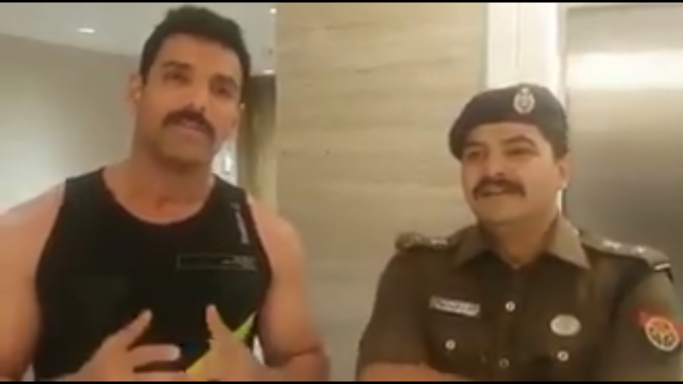 John Abraham in Lucknow
