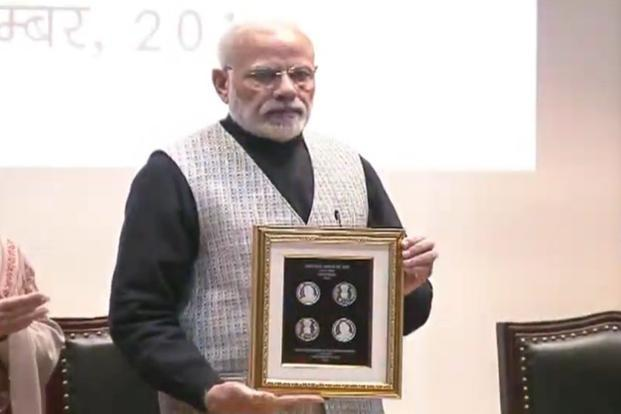 Modi-launches-100-Rs-coin