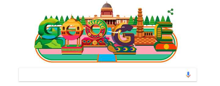 Google dedicated a doodle on Republic day