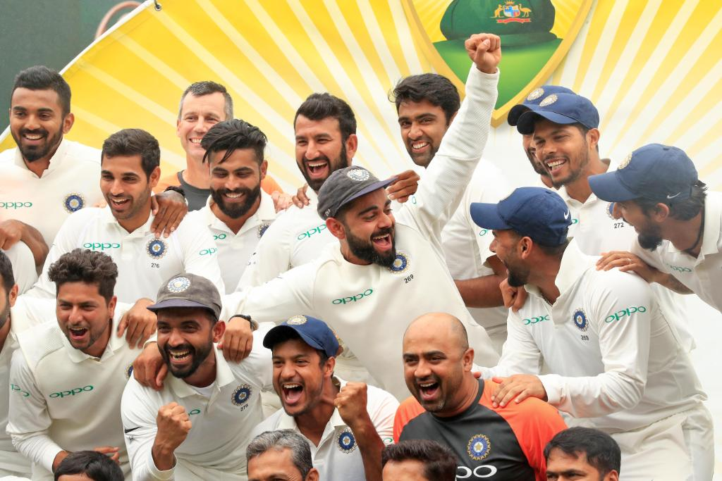 India Wins the first test series on Australian Land