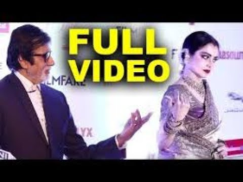 Rekha runs away from amitabh bachchan poster