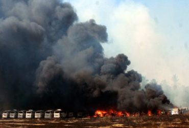 More than 100 cars gutted due to fire in chennai