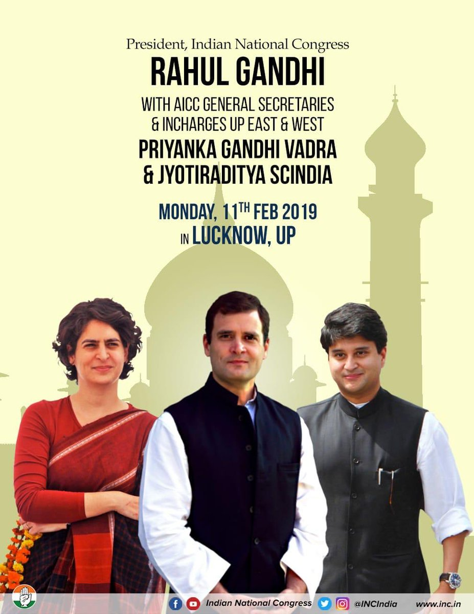 Rahul & Priyanka roadshow in Lucknow