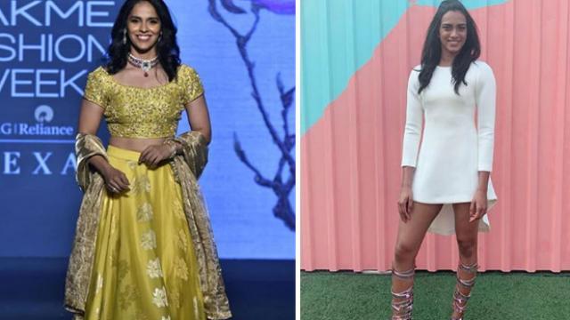 Have a look over PV Sindhu and Saina Nehwal glam look at Lakme fashion week