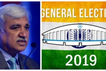Sunil Arora briefing election commission conference for 2019 elections