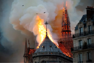 Fire at Notre Dame Church in France