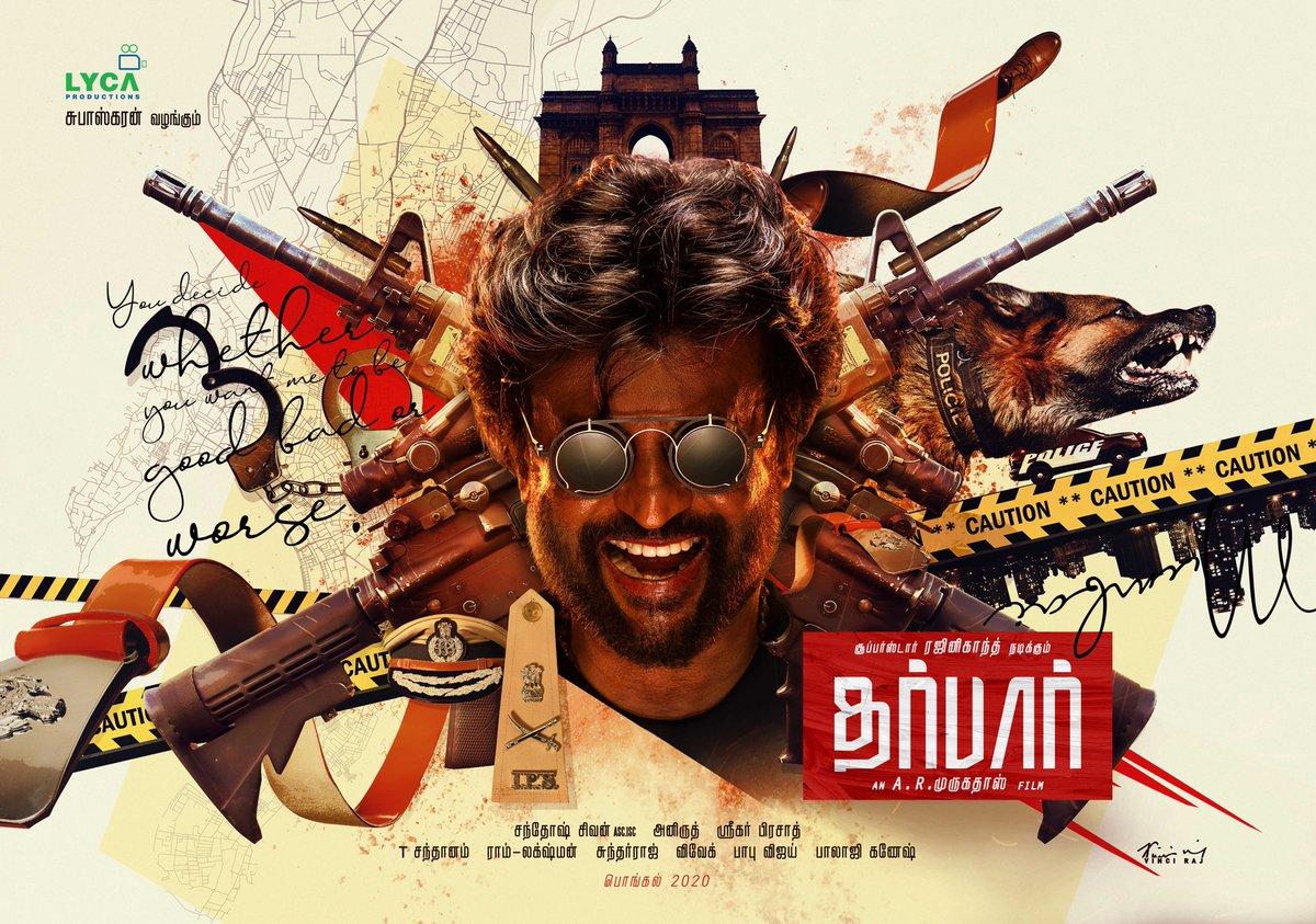 Rajinikanth's Darbar movie poster