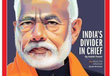 Modi on Times cover