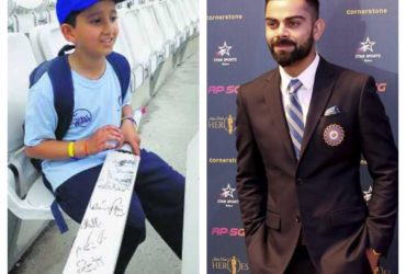 9-year old gets Virat Kohli authograph
