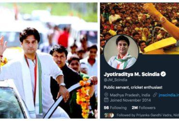 Jyotiraditya Scindhia twiiter controversy