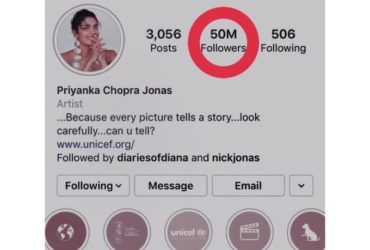 First Indian Actress to achieve the milestone of 50 million followers