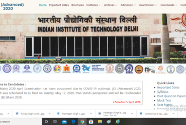 IIT Main and Advance exam postponned