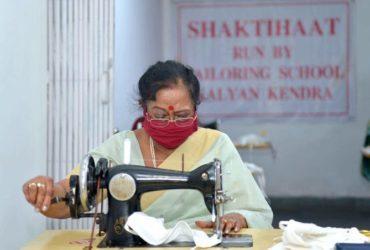 Savita Kovind stitched face mask