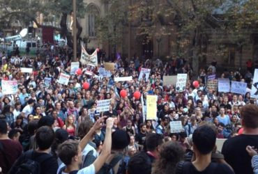AU student protest