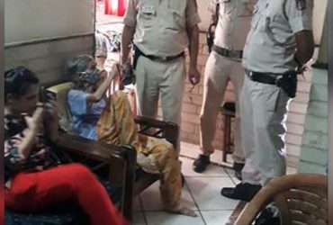 delhi cops rescued old lady