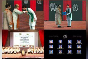 IIT Bombay Awarded Students Digital Avtaar at Virtual Convocation.