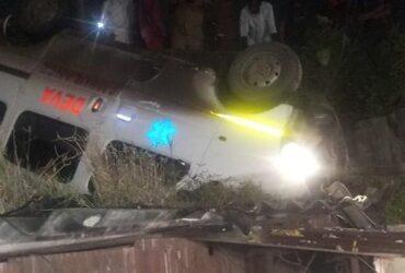 ambulance carrying body fall of bridge
