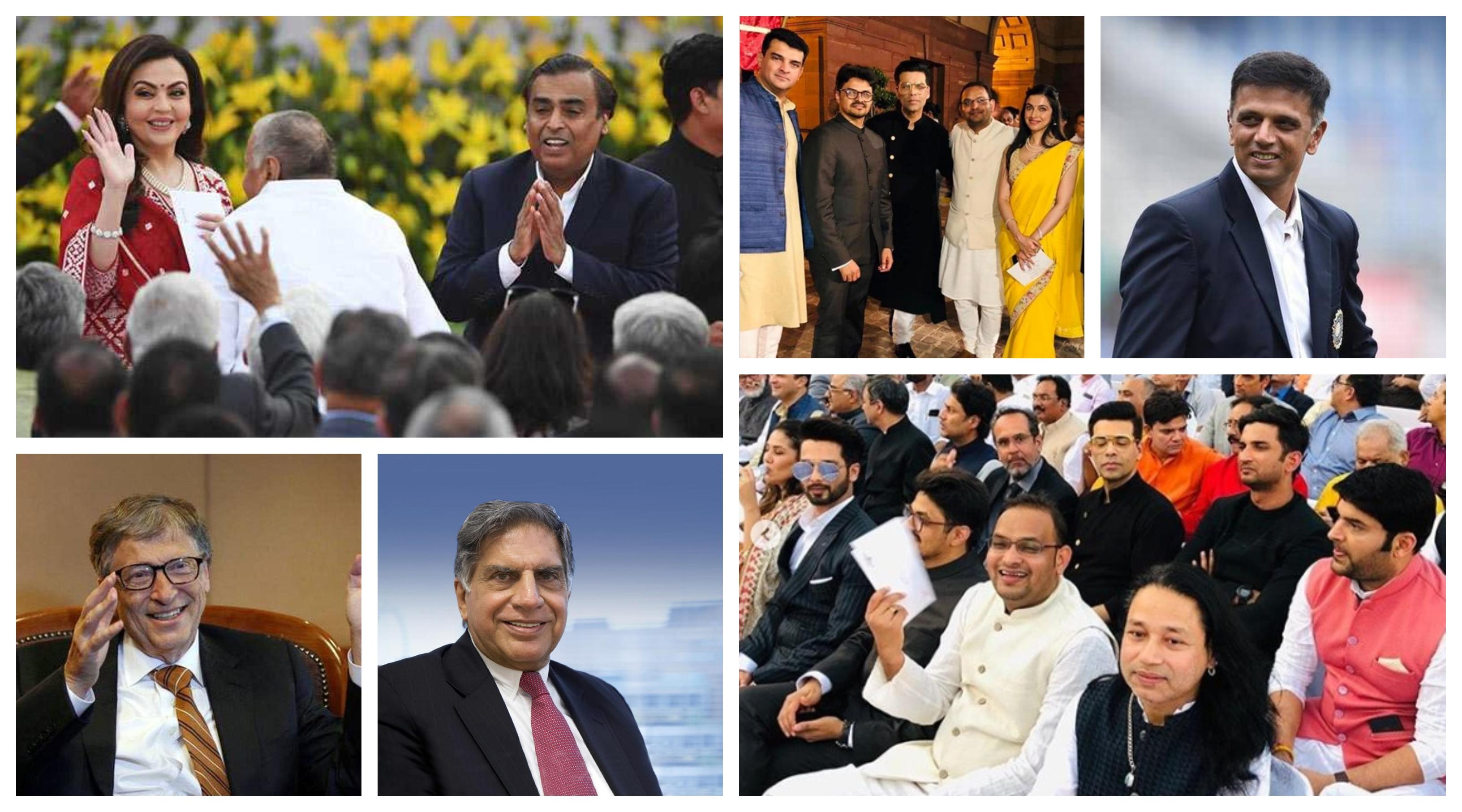 Businessmen, Celebrity and Sportsperson at PM Modi oath taking ceremony