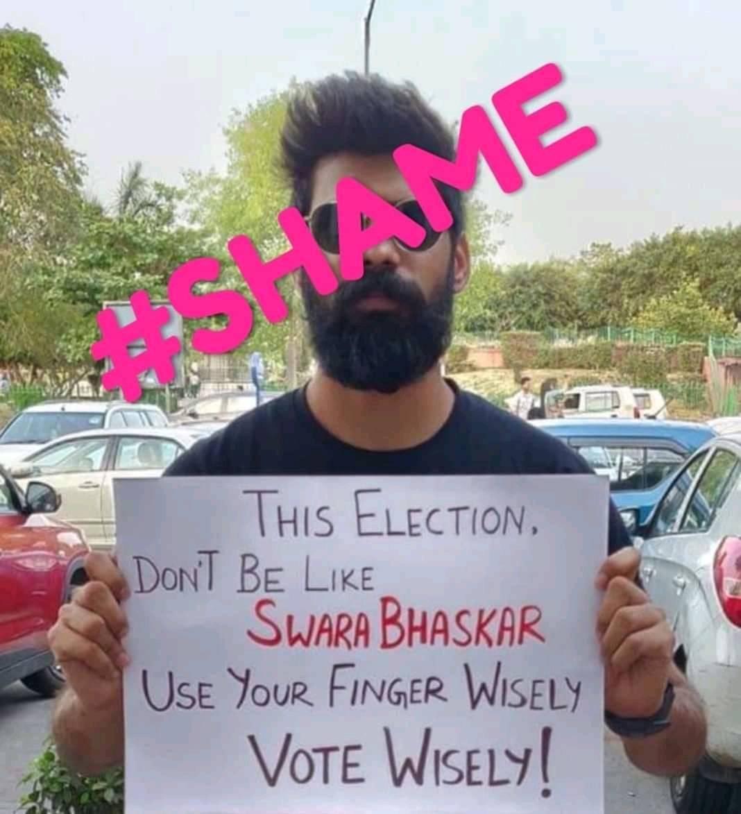 Poster shame against Swara Bhaskar