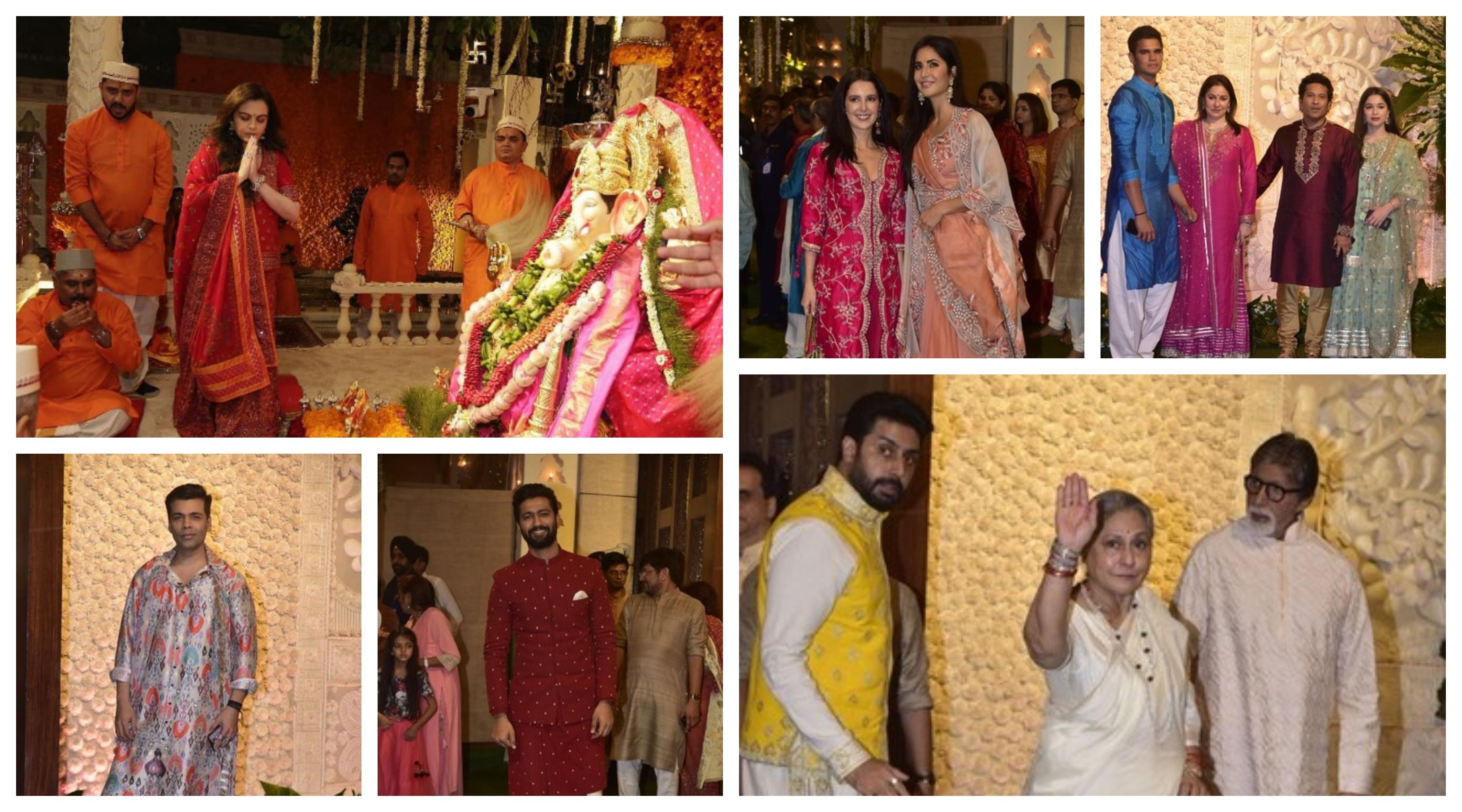 Bollywood celebrities at Ambani's ganpati celebration
