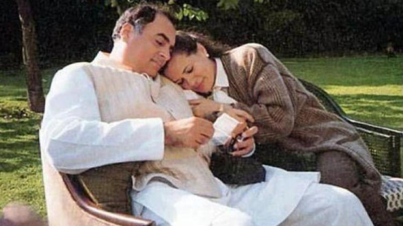 Sonia Gandhi and Rajeev Gandhi