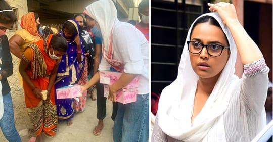 Swara Bhaskar helping migrants