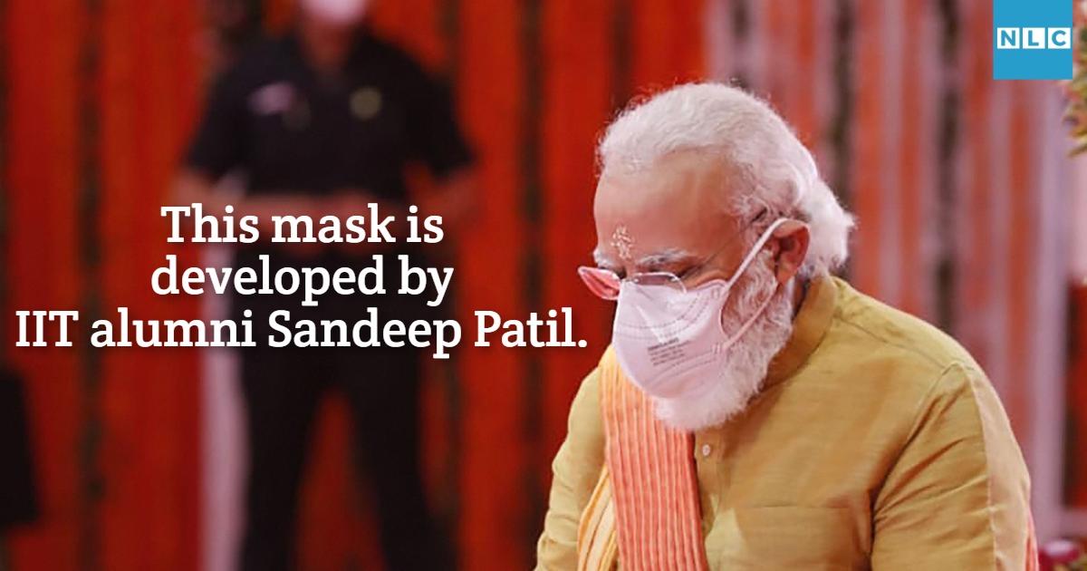 IIT-Kanpur-alumni-Sandeep-mask-worn-by-PM- Modi