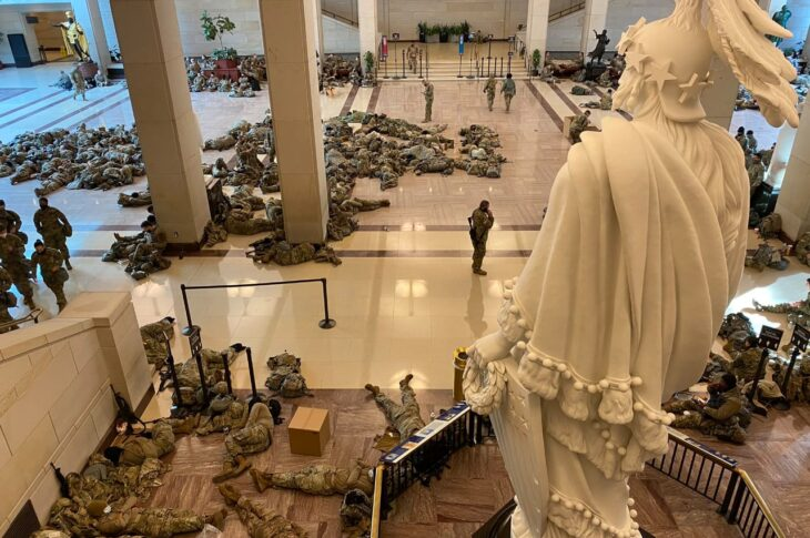 A total of 20,000 National Guardsman have been authorized to descend on Washington to help safeguard the capitol ahead of Biden's inauguration.