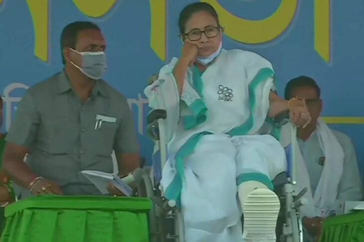 For the unversed Mamata Banerjee suffered injuries on her leg as she fell after allegedly being pushed by miscreants in Nandigram on March 10. Mamta Banerjee alleged that she was attacked by her opponents before Bengal Assembly Elections.