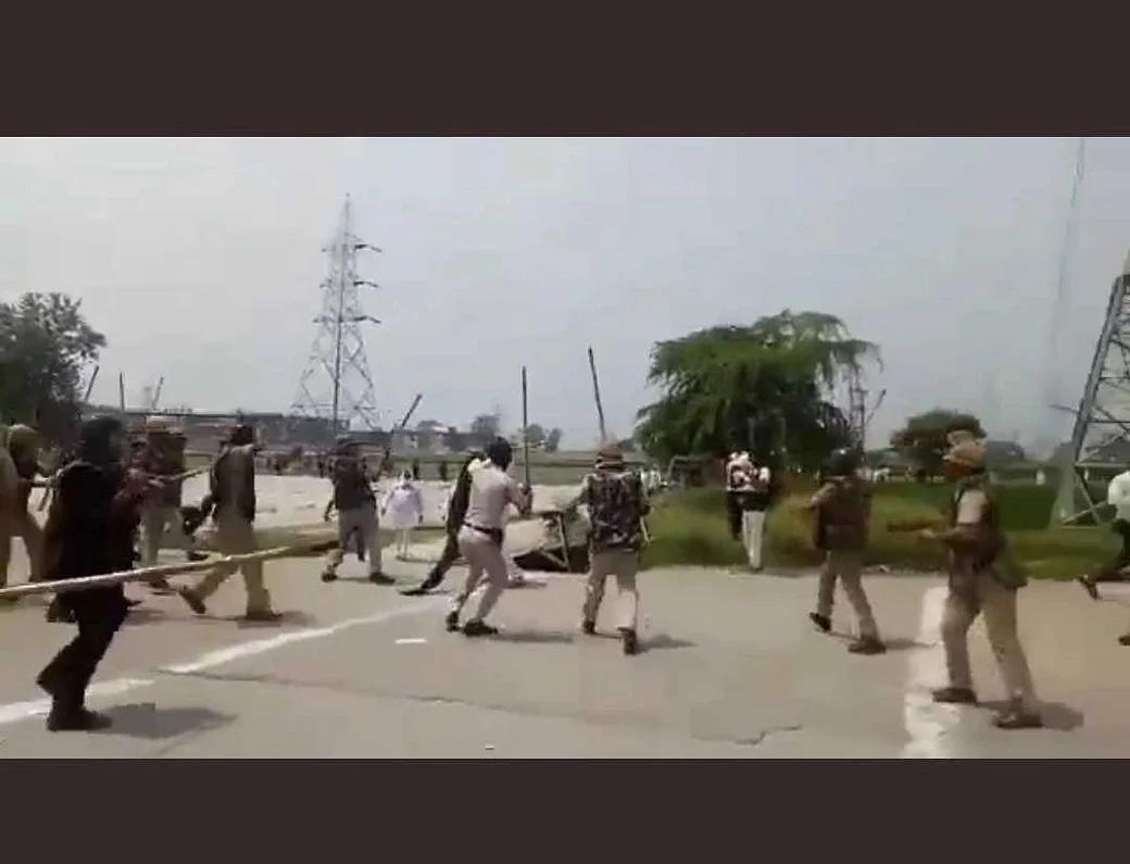 Alas! Annadata's beaten mercilessly in Haryana #FarmersProtest