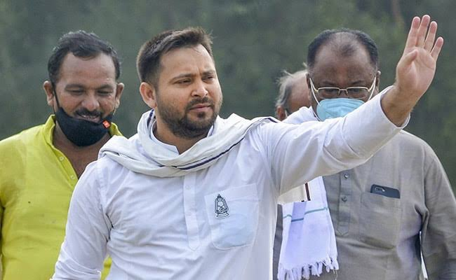 Tejashwi Yadav extended his support to Farmers protest.
